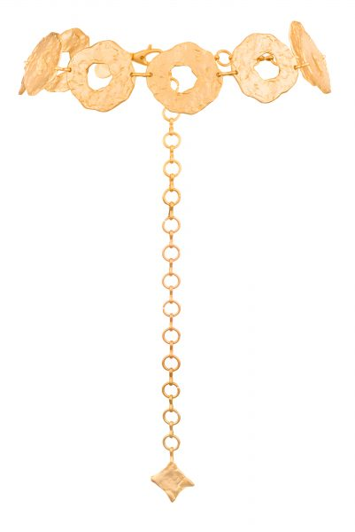 HARLOE GOLD DISCS CHAIN BELT