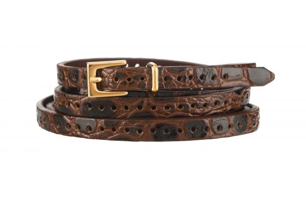 7d7ae2ed0 Maria Brass Buckle Wide Black Croc Patent Belt. £ 105.00. More Colours  Available · Patent Croc Belt