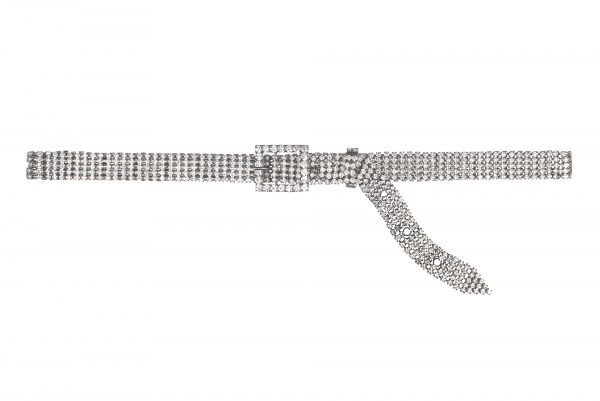 Crystal metal belt