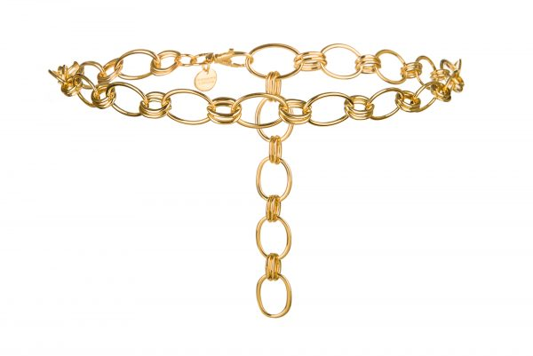 Clara II gold links chain belt