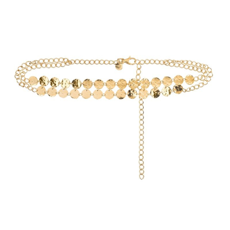 Sasha gold coins chain belt