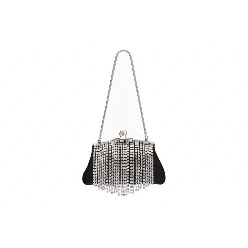 Crystal fringe mini bag