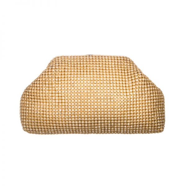 Crystal gold clutch