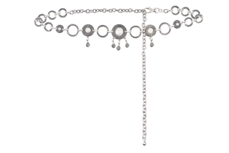 Jamie Pearls Chain Belt