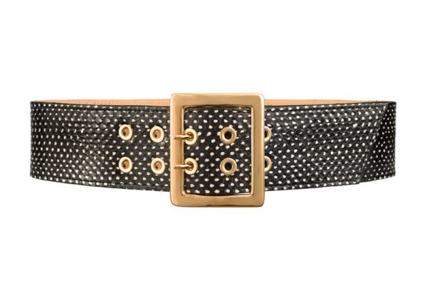 Honor black and white spot printed waist belt